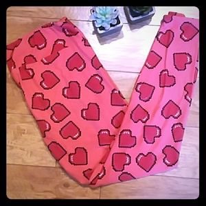 Digital Hearts Butter Soft TC Lularoe Leggings